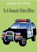 Police Officer - Greeting Card